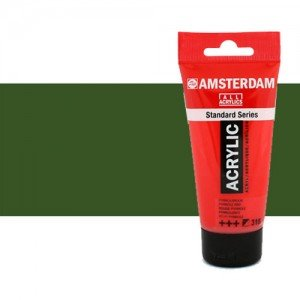 Acrílico Amsterdam n. 622 color verde oliva oscuro (250 ml)