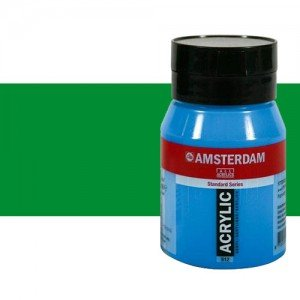 Acrílico Amsterdam color verde permanente claro (500 ml)