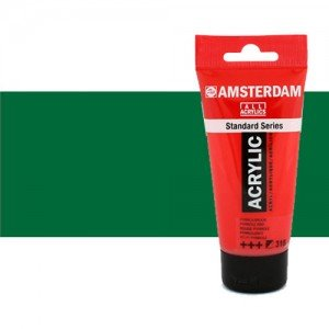 Acrílico Amsterdam color verde permanente oscuro (250 ml)