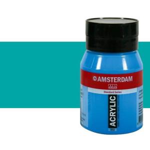 Acrílico Amsterdam n. 661 color verde turquesa (500 ml)