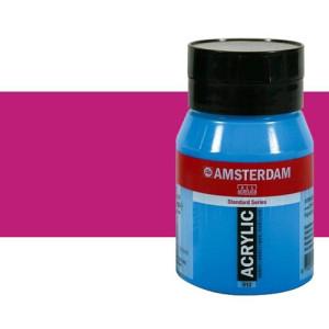 Acrílico Amsterdam color violeta rojo permanente claro (500 ml)