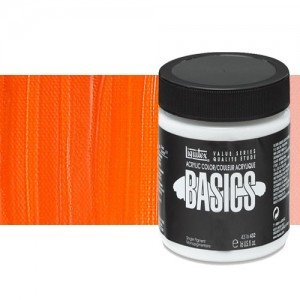 Acrílico Liquitex Basics color naranja cadmio (946 ml)