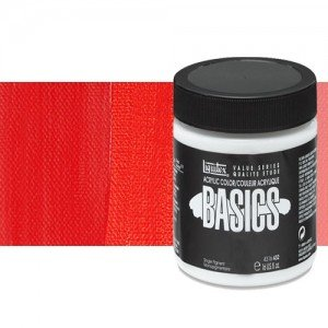 Acrílico Liquitex Basics color tono rojo cadmio medio (946 ml)