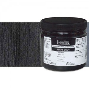 Acrílico Liquitex Heavy Body color negro marfil (946 ml)