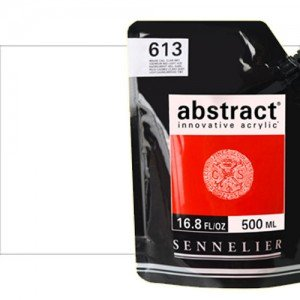 Totenart. Acrilico Sennelier Abstract Blanco de Titanio 116, 500 ml.