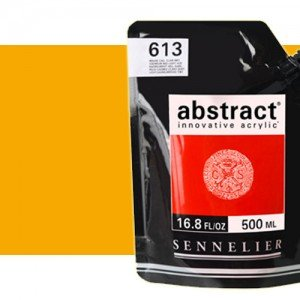 Totenart. Acrilico Sennelier Abstract Amarillo Cadmio Oscuro Tono 543 , 500 ml.