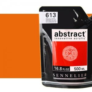 Totenart. Acrilico Sennelier Abstract Rojo Cadmio Anaranjado Tono 615, 500 ml.