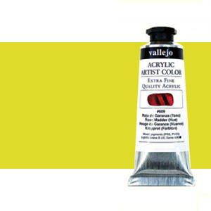 Acrílico Vallejo Artist n. 616 color amarillo fluorescente (60 ml)