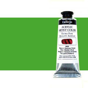 Acrílico Vallejo Artist n. 623 color verde fluorescente (60 ml)