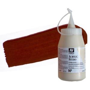 totenart-acrilico-vallejo-studio-10-rojo-oxido-hierro-500-ml