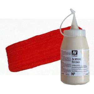 Acrílico Vallejo Studio color rojo de cadmio (1000 ml)