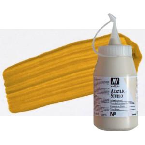 totenart-acrilico-vallejo-studio-8-amarillo-oxido-hierro-500-ml