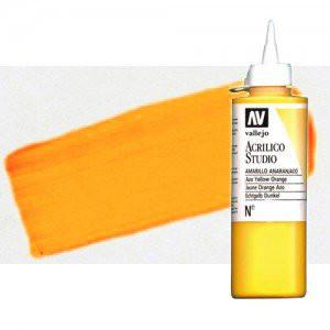 Acrílico Vallejo Studio n. 931 color amarillo dorado fluorescente (200 ml)