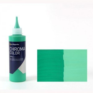 Totenart - Acrílico La Pajarita Verde Permanente Chroma Color (200 ml.)