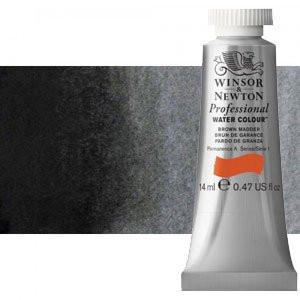 totenart-Acuarela Artist Winsor & Newton color negro de humo (14 ml)