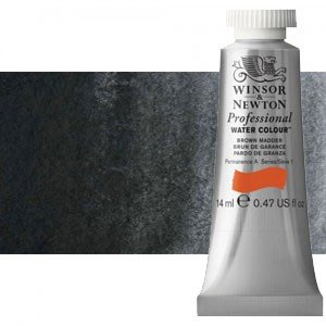 totenart-Acuarela Artist Winsor & Newton color negro de Marte (144 ml)