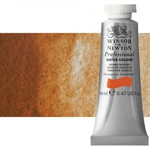 totenart-Acuarela Artist Winsor & Newton color ocre marrón (14 ml)