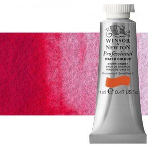 totenart-Acuarela Artist Winsor & Newton color rojo de quinacridona (14 ml)