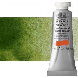 totenart-Acuarela Artist Winsor & Newton color verde oliva (14 ml)