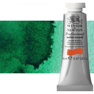 totenart-Acuarela Artist Winsor & Newton color verde Winsor sombra amarilla (14 ml)