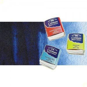 Acuarela Cotman Winsor & Newton 1/2 godet color índigo