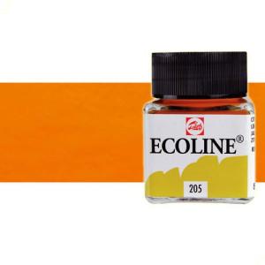 totenart-acuarela-liquida-ecoline-talens-237-naranja-oscuro-frasco-30-ml