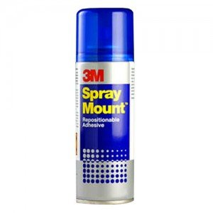Totenart-Spray Adhesivo 3M SPRAY MOUNT, Removible, 200 ml.