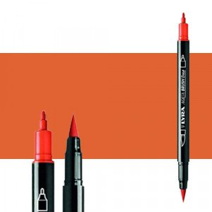 Rotulador doble punta pincel Naranja Claro. Aqua Brush Duo, Lyra