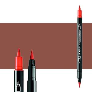 Rotulador doble punta pincel Rojo Venecia. Aqua Brush Duo, Lyra