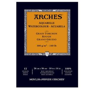 totenart-Acuarela Arches 300 gr, 21x29,7 cm, G. Grueso, block 12 h.