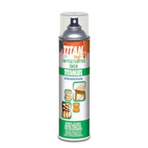 Totenart Barniz SPRAY brillante madera Titan 200 ml.