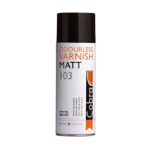 Totenart-Barniz sin olor mate 103 para óleo al agua Cobra 400 ml