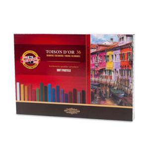 Totenart - Estuche de Barras de Pastel Toison d'Or, Koh-i-Noor (36 colores)