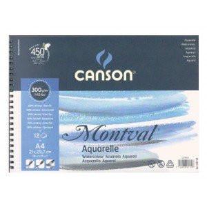 totenart-Acuarela Canson Montval 300 gr, 21x29.7, G. Fino, Block 12 h.