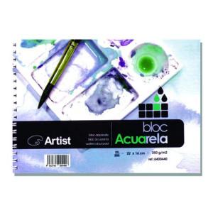 Acuarela Artist 250 gr, 16x11 cm, G. Fino, Block 20 h.