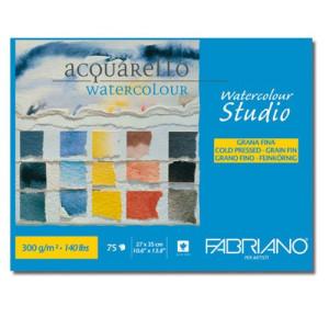 Acuarela Fabriano 300 gr, 27x35 cm, G. Fino, block 75 h.