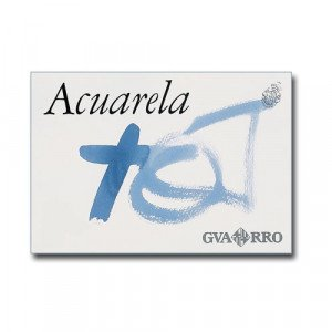 Acuarela Guarro 240 gr, 32.5x46, Gr. Grueso, block 20 h.