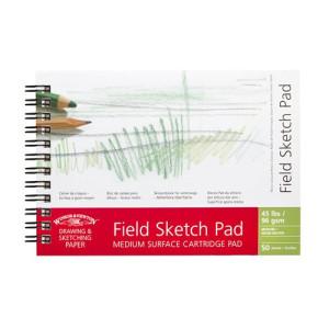 Bloc de campo para dibujo, grano medio, 96 gr, 50 h, sin ácido, A6, Winsor&Newton