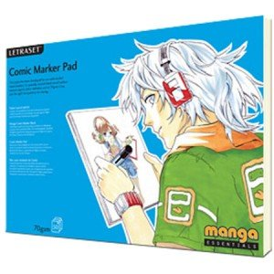 Totenart - Block Letraset Comic Marker Pad (alta calidad) A4, 70 gr., 50 h.