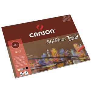 Bloc Canson Mi-Teintes Touch, colores variados, 12 h. 350 gr 24x32 cm