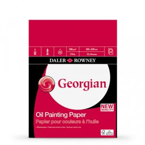 Bloc de 12 hojas de papel para óleo Daler-Rowney de 290 gr (22,9x30,5 cm)