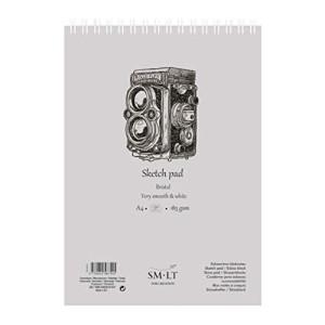 Bloc dibujo Bristol espiral, 30 hojas, 185 gr., A5, SM.LT