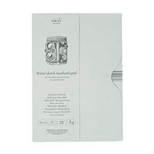 Bloc dibujo Bristol en estuche, 50 hojas, 185 gr., A4, SM.LT