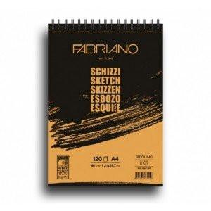 totenart-Esbozo Fabriano (Block), 120 h., 90 gr., A4