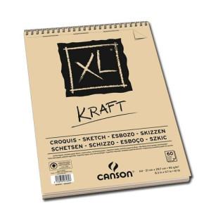 Totenart-Esbozo Canson XL Kraft (Block), 60h., 90 gr., A4