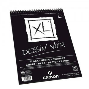 Totenart-Esbozo Canson XL Negro (Block), 40h., 150 gr., A3