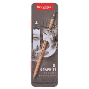 Estuche de 6 lápices de grafito Bruynzeel