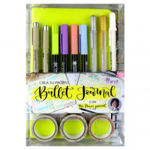 Set crea tu diario Verde Pastel, Bullet Journal