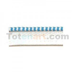 totenart-Cabezada encuadernacion azul y blanco, 1 mt.
