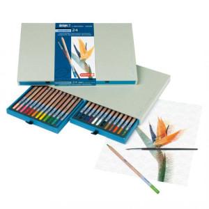 totenart-Estuche de 24 lápices acuarelables Sakura Bruynzeel